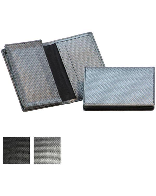 Carbon Fibre Textured Effect Business Card Dispenser