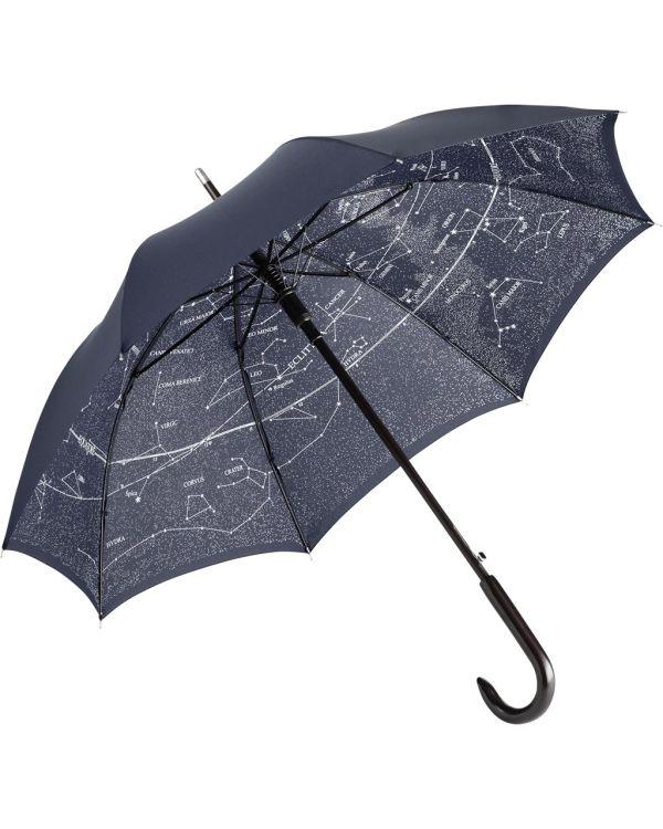 FARE Woodshaft AC Regular Umbrella With Constellation Design Inside Cover