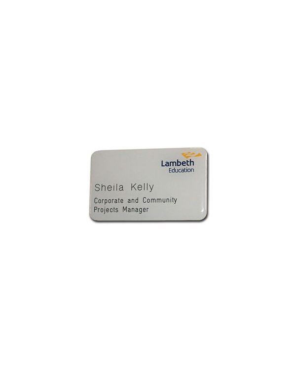 Plastic Laminate Metallex Name Badges