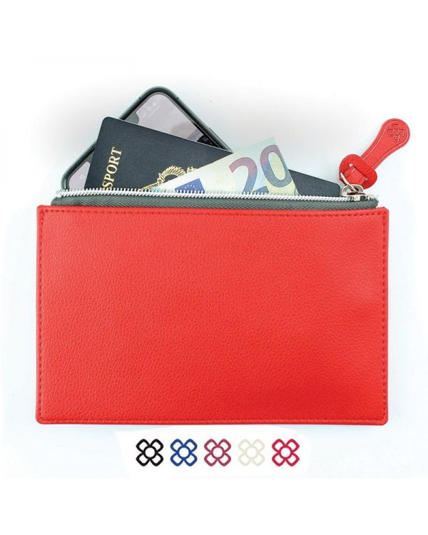 Small Zipped Pouch In Recycled Como