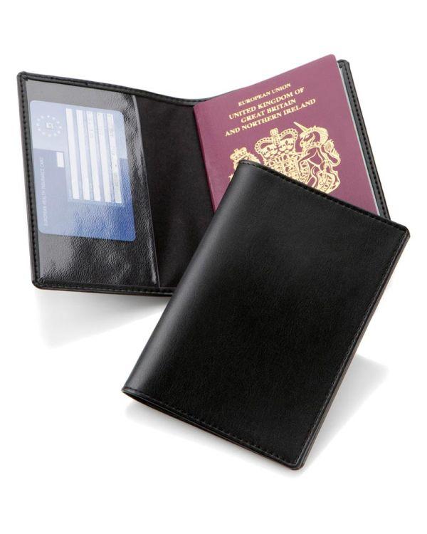 Woburn Leather Basic Passport Wallet