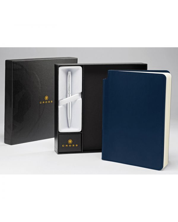 Cross Medium Journal and Stratford Ball Pen Gift Set
