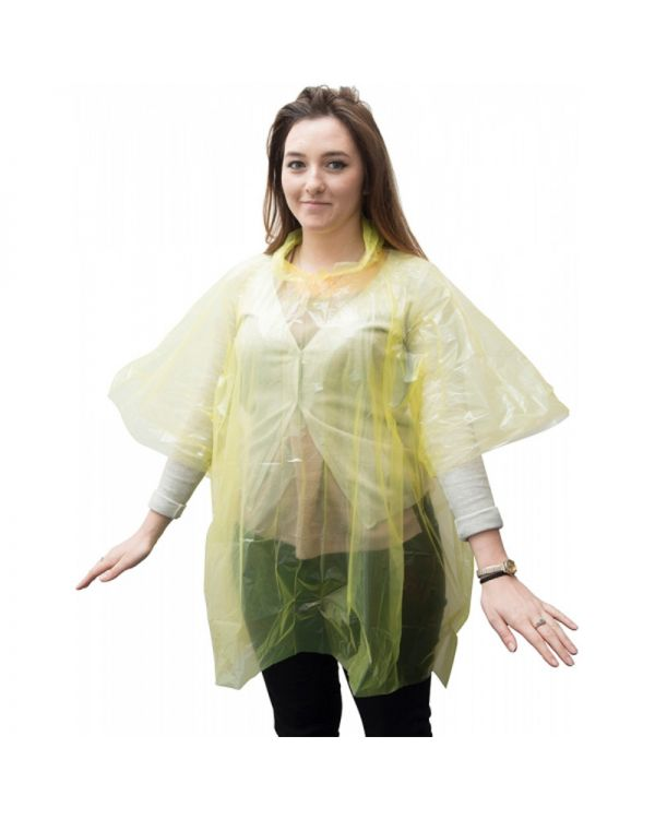 Disposable PE Poncho (Adult)