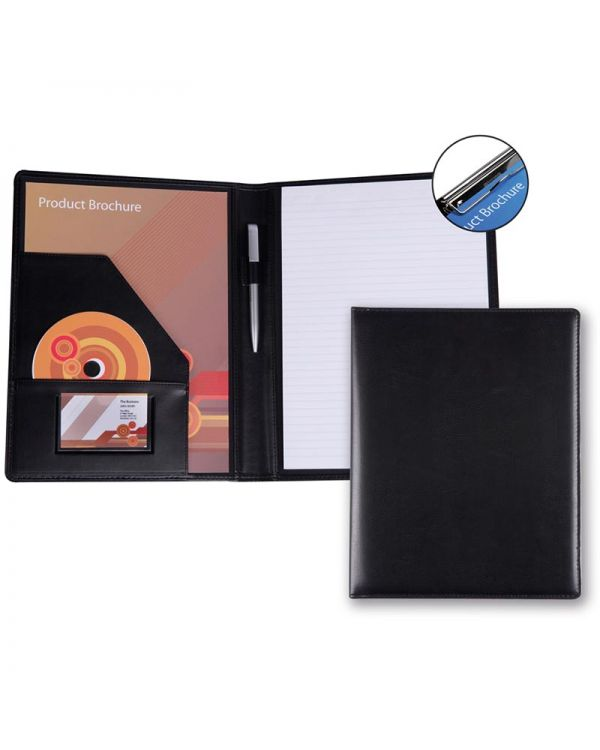 Belluno PU A4 Conference Folder With Pad Clip