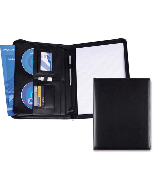 Optimum PU A4 Deluxe Zipped Conference Folder