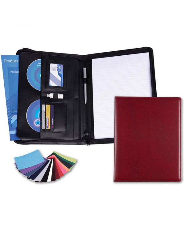 Vibrance A4 Deluxe Zipped Conference Folder