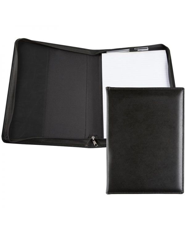 Recycled Leather A4 Zipped Conference Folder