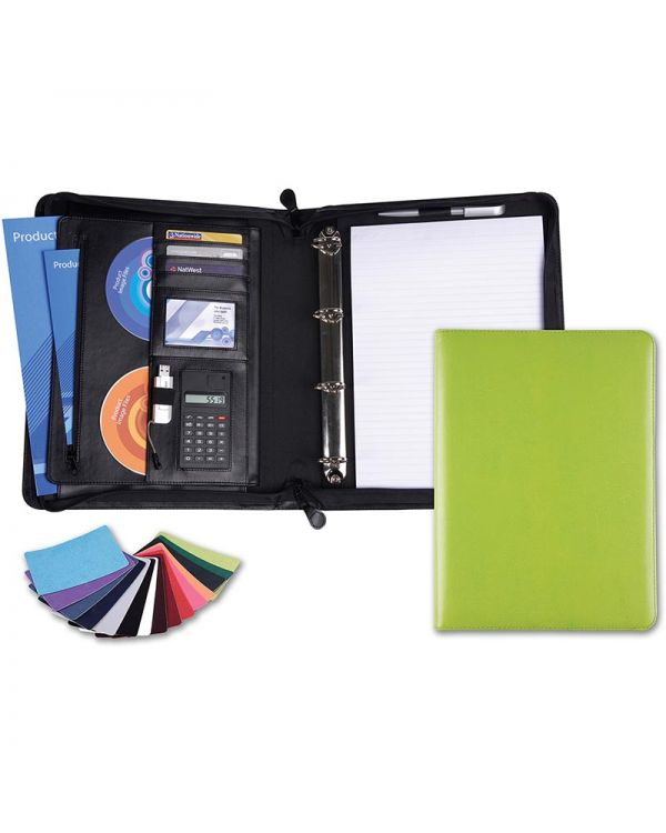 Vibrance A4 Deluxe Zipped Conference Folder Plus