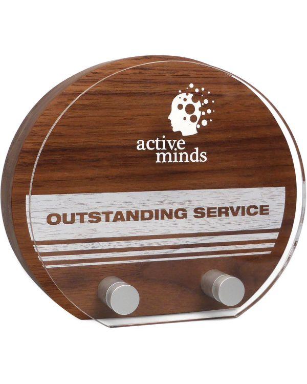 Real Wood Sunrise Award with Acrylic Face