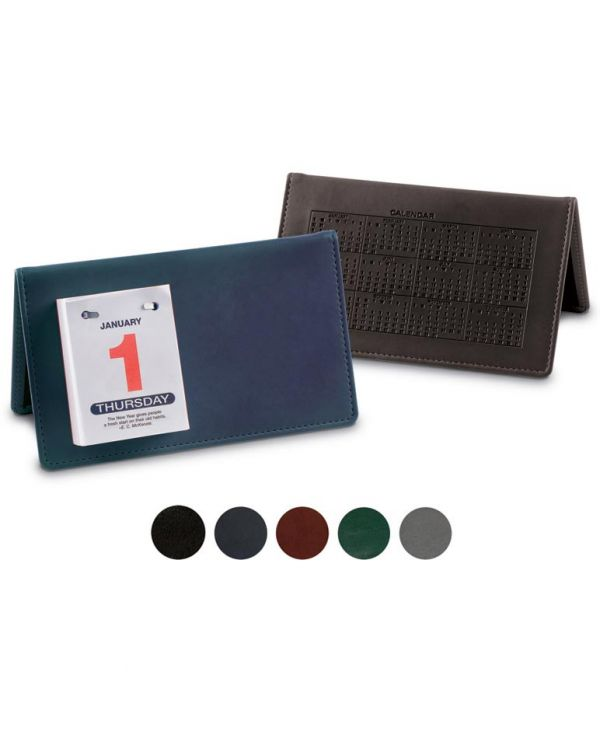 Woburn Leather Desk Top Calendar