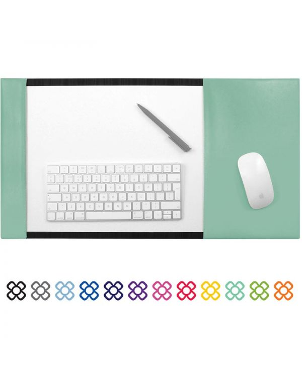 A3 Desk Pad Blotter With Integral Mouse Mat In Vegan Matt Velvet Torino