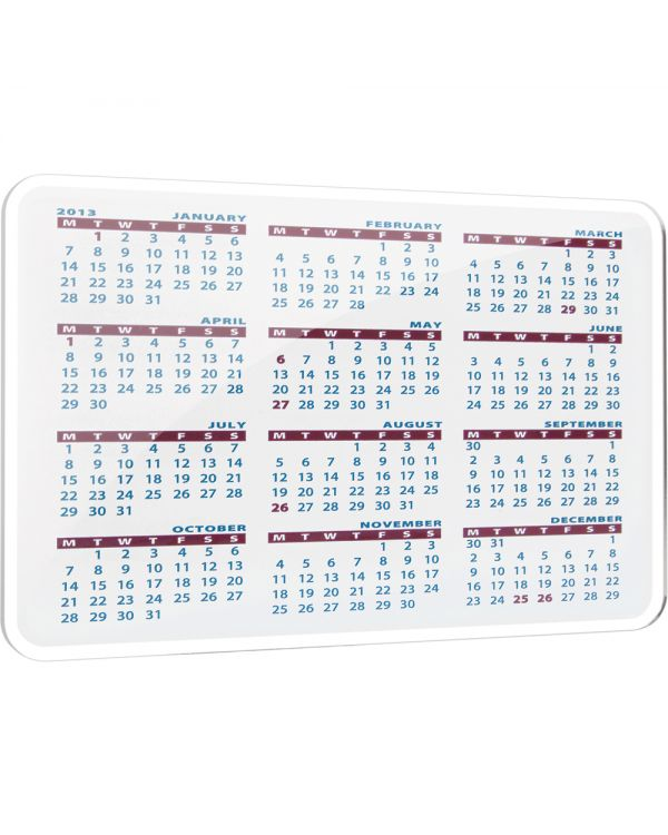 Acrylic Calendar Coasters