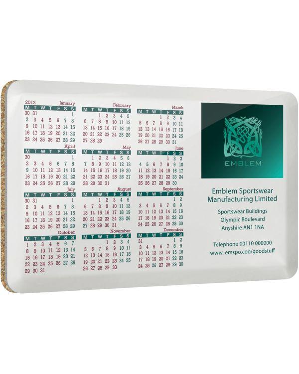 Real Metal Calendar Coaster