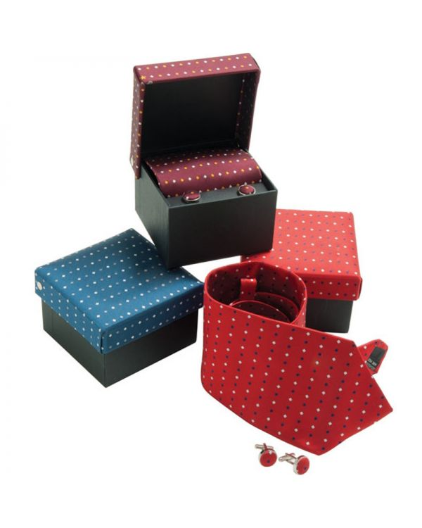 Tie and Cufflink Box Set (Woven Micro Polyester)