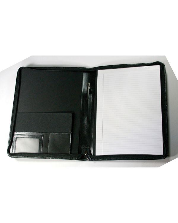 Warwick Genuine Leather Zipped Folder
