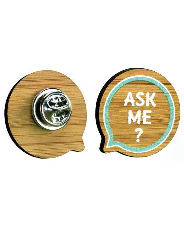 Bamboo Clutch Pin Badge