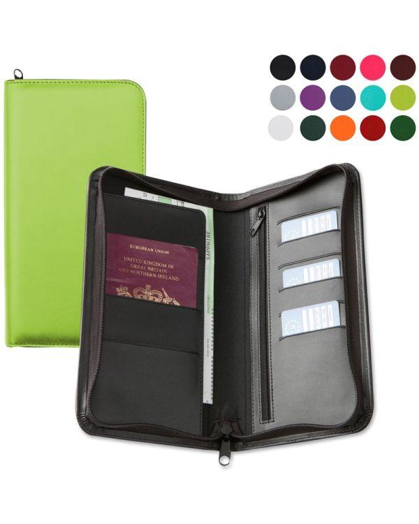 Vibrance Zipped Travel Wallet