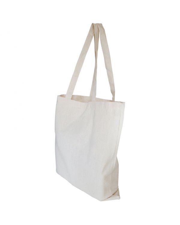 Canvas Shopper with Bottom Gusset
