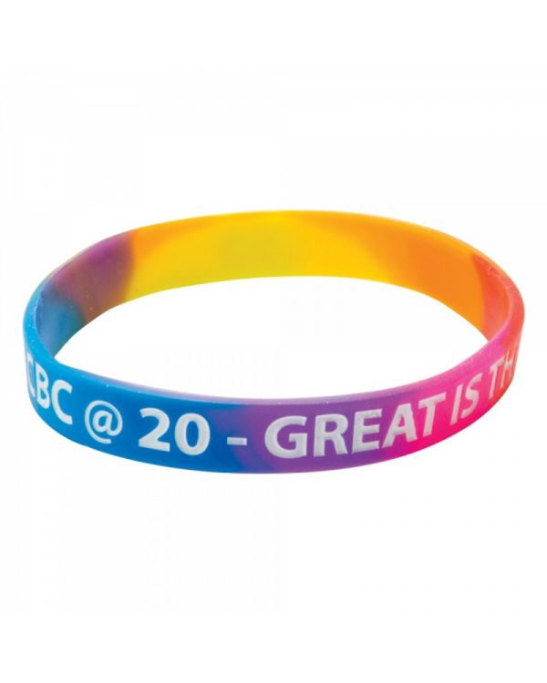 Silicone Wristbands (Adult: Multicoloured Material)