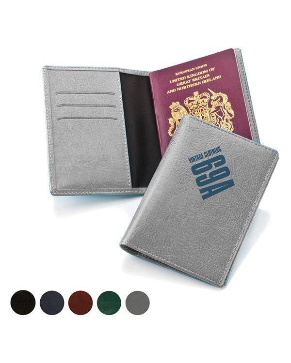 Belluno Leatherette Passport Wallet