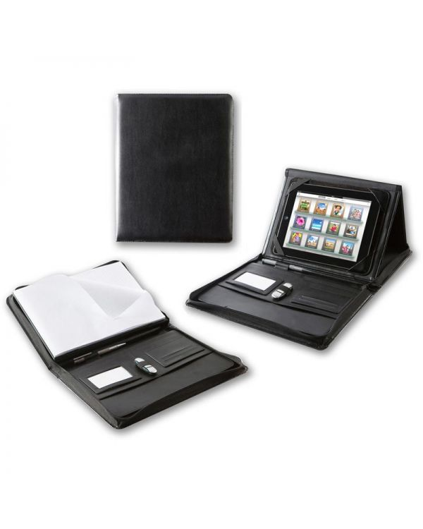 Optimum A4 Zipped Portfolio with iPad Holder & Stand