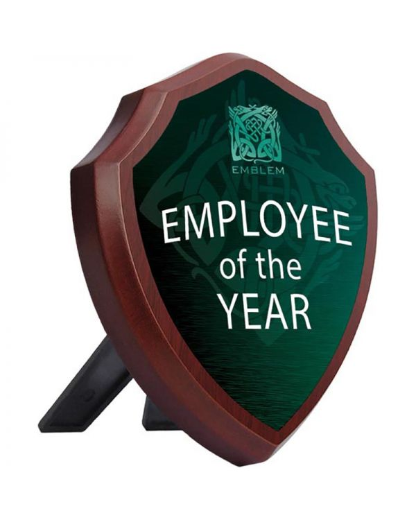 """Shield Shaped Metal Faced Plaque - Logo Only 8"""" x 10"""""""