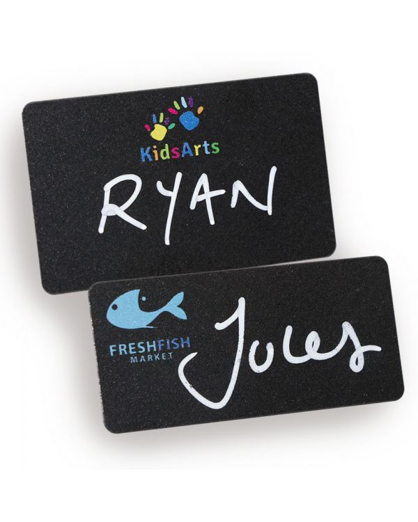 Blackboard name badges