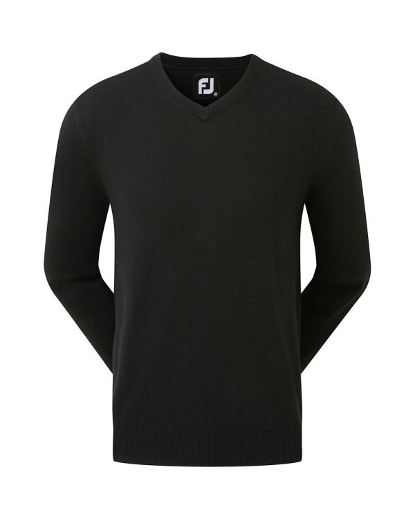 FJ (Footoy) Gent's Golf V Neck Lambswool Pullover