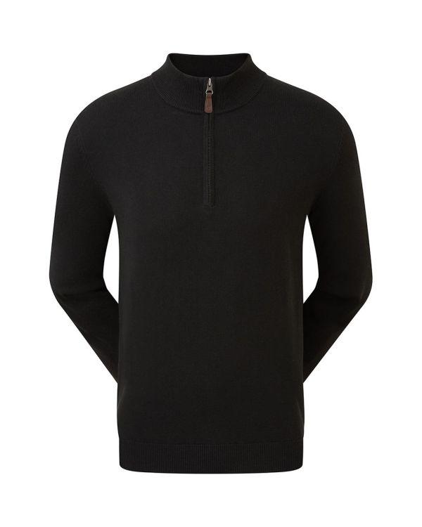 FJ (Footjoy) Gent's Golf Half Zip Wool Blend Pullover