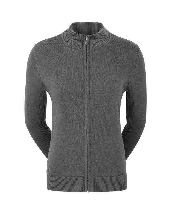 FJ (Footjoy) Women's Full Zip Lined Wool Blend Golf Pullover