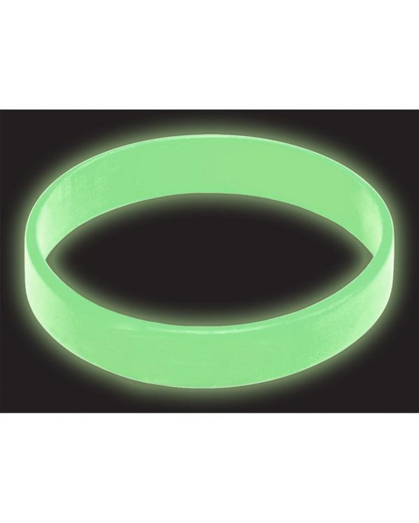 Silicone Wristbands - Glow in the Dark - Printed