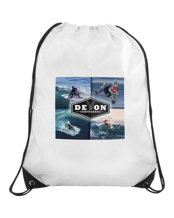 Verve Drawstring Bag - White Only (3 Day Express - Transfer Print)