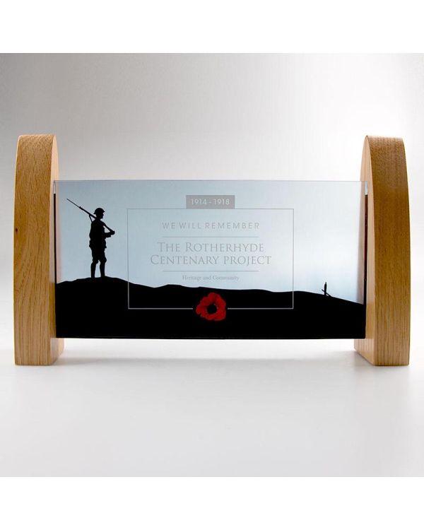 Real Wood And Acrylic Window Award - 240mm x 120mm