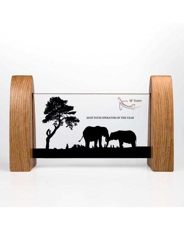 Real Wood And Acrylic Window Award - 180mm x 90mm