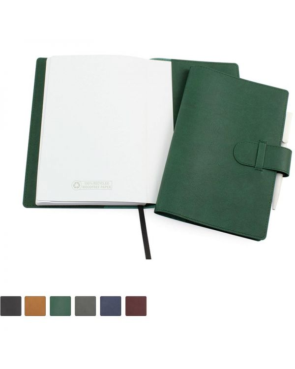 Biodegradable Notebook Wallet With 100% Recycled Lined Book