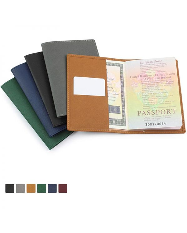 Biodegradable Passport Wallet In BioD A Biodegradable Leather Look Material
