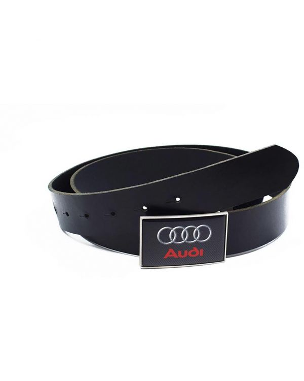 Leather Belt With Full Colour Logo Dome