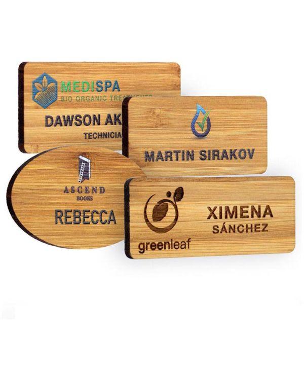 Bamboo Personalised Name Badges