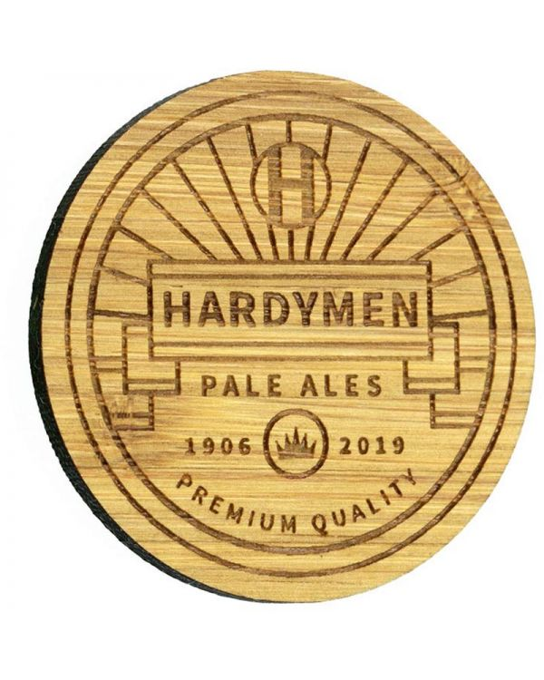 Bamboo Promotional Badge Bespoke Shape Up To 50mm x 50mm