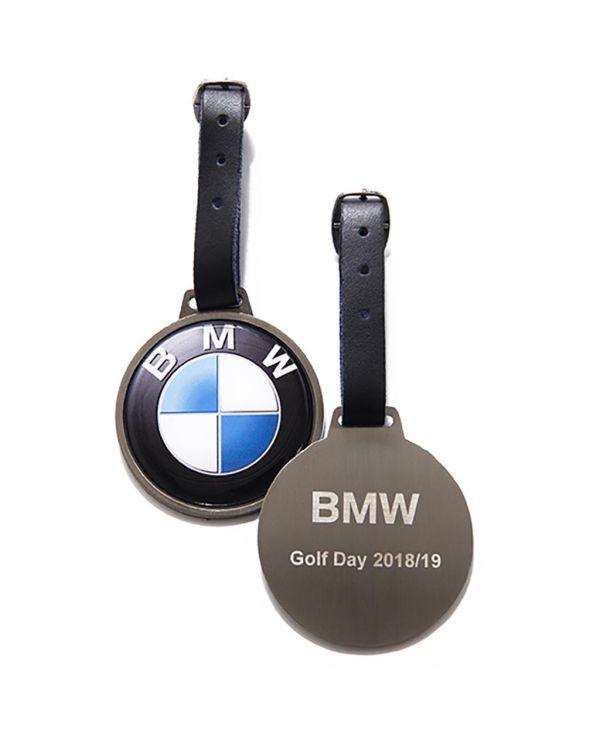 Round Metal Golf Bag Tag