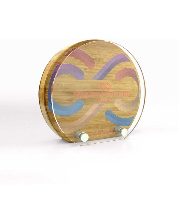Bamboo Sunrise Award With Acrylic Front - Small