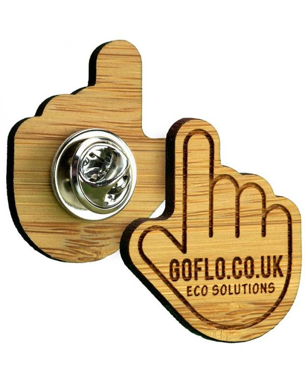 Bespoke Shaped Bamboo Clutch Pin Badge Up To 35mm x 35mm