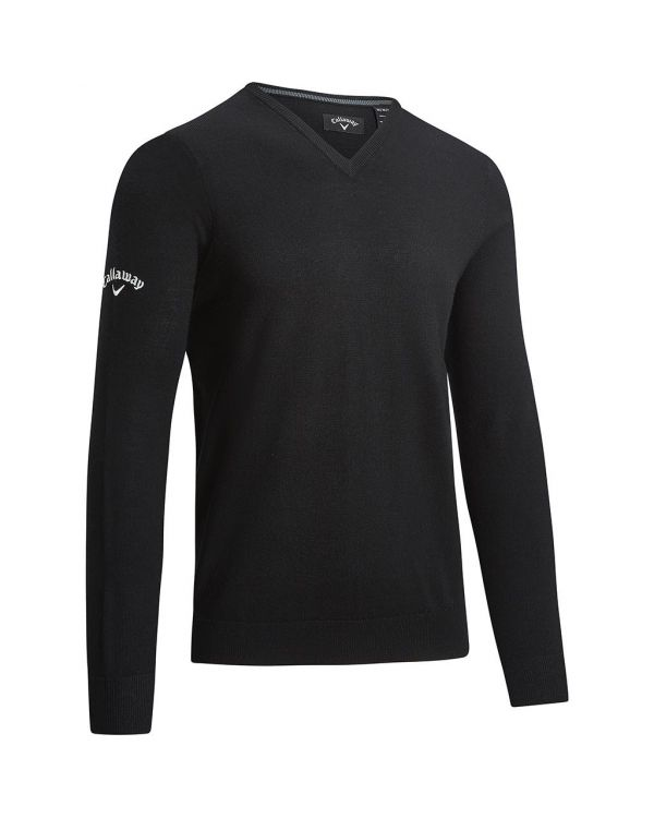Callaway Gent's V-Neck Merino Golf Sweater With Embroidery To 1 Position