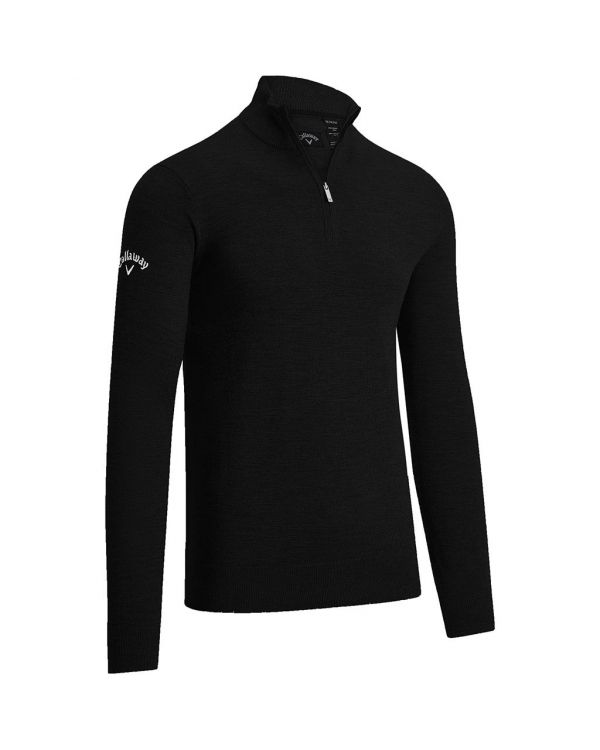 Callaway Gent's Quarter Zipped Merino Golf Sweater With Embroidery To 1 Position