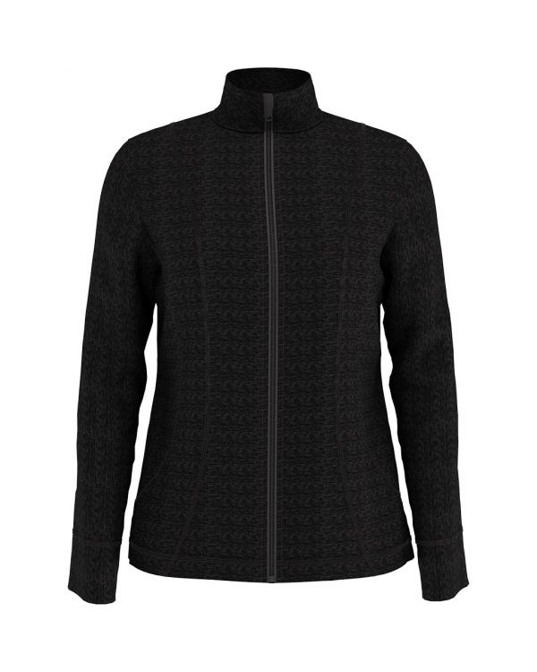 Callaway Women's Heather Waffle Fleece Golf Jacket With Embroidery To 1 Position