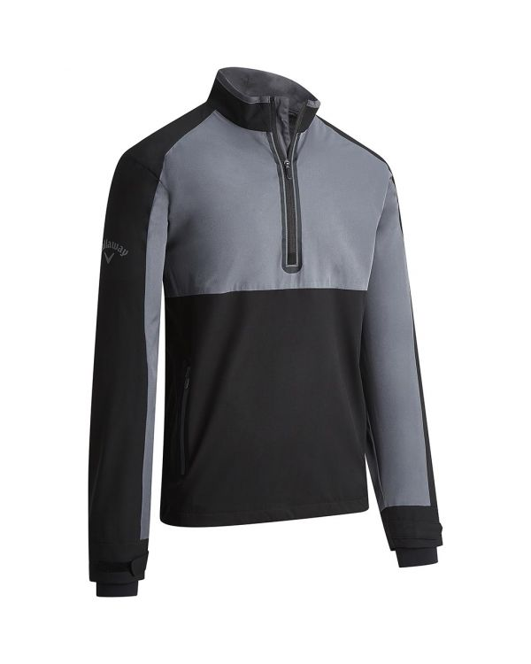 Callaway Gent's Block Quarter Zip Golf Wind Jacket With Embroidery To 1 Position
