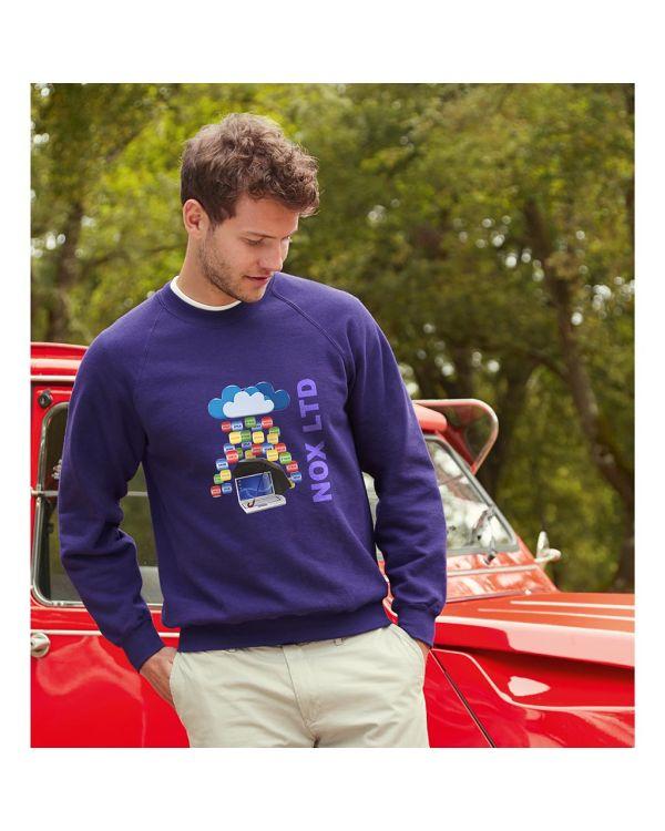 Fruit of the Loom Lightweight Raglan Sweatshirt - Coloured