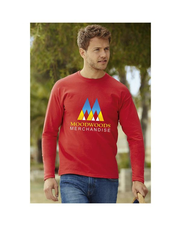 Fruit of the Loom Long Sleeve Value T-Shirt - Coloured
