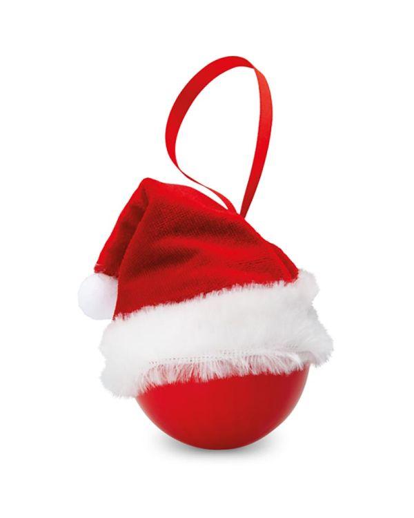 Bolihat Xmas Bauble With Santa Hat