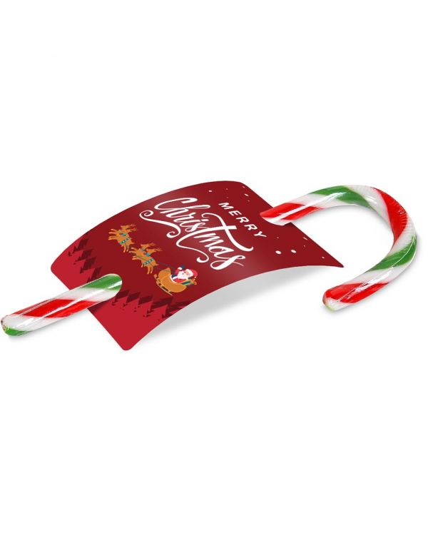 Christmas - Peppermint Candy Cane - 50 - Info Card